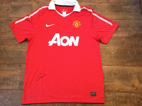 2010 2011 Manchester United Club COA Smalling Signed Football Shirt